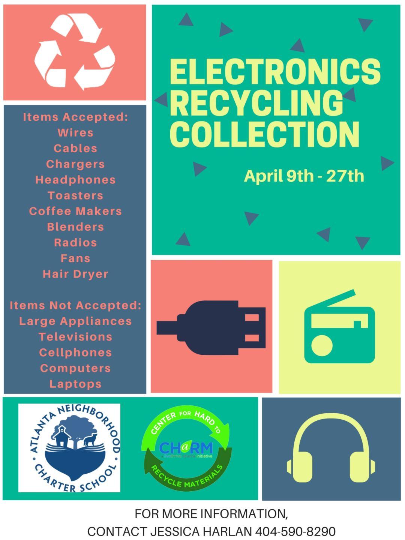 Earth Day Electronics Recycling Drive - Atlanta Neighborhood Charter ...
